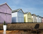 Beach Huts wall mural kitchen preview
