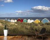 Beach Huts, Southwold wallpaper mural kitchen preview