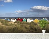 Beach Huts, Southwold wallpaper mural in-room view