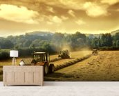 Tractors wall mural living room preview