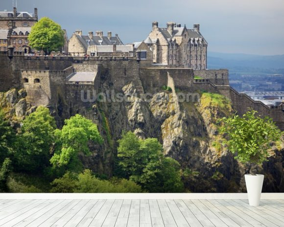 Edinburgh castle scotland wallpaper wall mural for Edinburgh wall mural