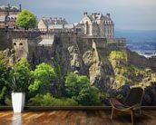 Edinburgh castle scotland wallpaper wall mural wallsauce for Edinburgh wall mural