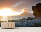 Sunset at Elgol Isle of Skye wall mural living room preview