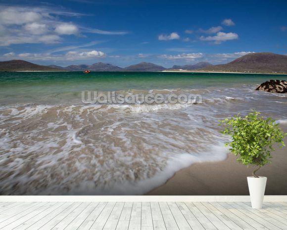 Horgabost Beach, Isle of Lewis mural wallpaper room setting