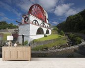 Laxey waterwheel wall mural living room preview