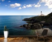 Lighthouse on Cliffs mural wallpaper kitchen preview
