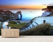 Durdle Door Sunset wallpaper mural living room preview