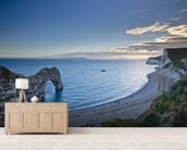 Durdle Door mural wallpaper living room preview