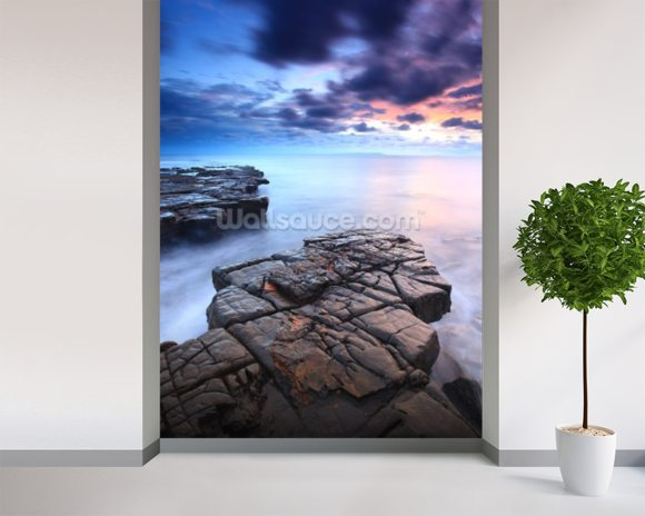Kimmeridge Bay wall mural room setting