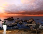 The Cove Sunset wall mural kitchen preview