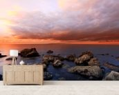 The Cove Sunset wall mural living room preview