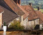 Gold Hill in Shaftesbury, Dorset wallpaper mural kitchen preview