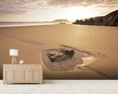 Pembroke Beach wallpaper mural living room preview