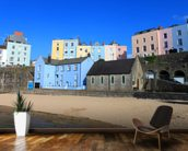 Buildings At Tenby Harbour wall mural kitchen preview