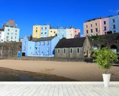 Buildings At Tenby Harbour wall mural in-room view