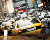 New York Taxis Cab wallpaper mural kitchen preview