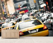 New York Taxis Cab wallpaper mural living room preview