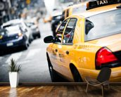 New York Taxi mural wallpaper kitchen preview