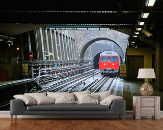 London Underground Train Wallpaper Wall Murals