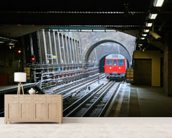 London Underground Train wallpaper mural living room preview