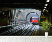 London Underground Train wallpaper mural in-room view