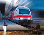 Modern Train wall mural kitchen preview
