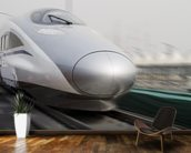 Bullet Trains wall mural kitchen preview