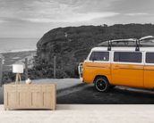 VW Camper Colourwash mural wallpaper living room preview
