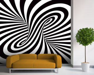 Optical Art - Column wallpaper mural