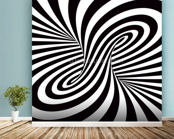 Optical Art - Column wallpaper mural room setting