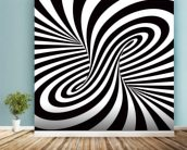 Optical Art - Column wallpaper mural in-room view