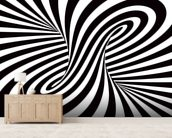 Optical Art - Column wallpaper mural living room preview