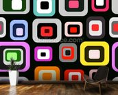 Retro Squares Pattern mural wallpaper kitchen preview
