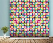 Circle Abstract Pattern wall mural in-room view