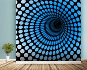 CGI Blue Tunnel wall mural in-room view