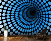 CGI Blue Tunnel wall mural kitchen preview