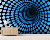 CGI Blue Tunnel wall mural living room preview