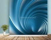 Twirl wall mural in-room view