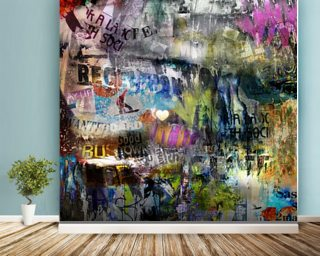 Grunge Mural Wallpaper Wall Murals Wallpaper