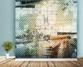 Grunge Urban Style mural wallpaper in-room view