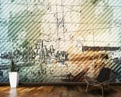 Grunge Urban Style mural wallpaper kitchen preview