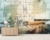 Grunge Urban Style mural wallpaper living room preview