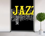 Jazz Music wallpaper mural in-room view