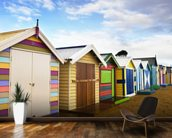 Brighton Bathing Boxes mural wallpaper kitchen preview