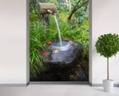 Water Feature wall mural in-room view