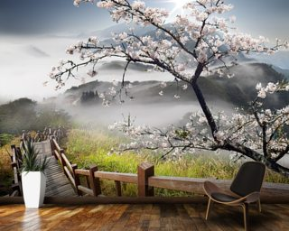 Japanese Walkway Wall Mural Wallpaper Wall Murals Wallpaper
