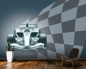 Formula 1 Car and Flag wallpaper mural kitchen preview