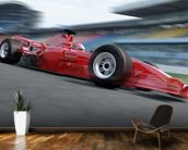 F1 Racer mural wallpaper kitchen preview