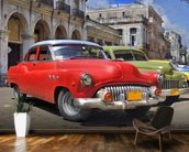 Cuba Classic Cars wall mural kitchen preview