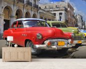Cuba Classic Cars wall mural living room preview